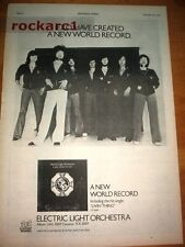 ELO New World Record 1976 UK Poster size Press ADVERT 16x12 inches