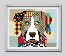 Bernese Mountain Dog Pop Art Pet Animal Lover Print Puppy Portrait Painting