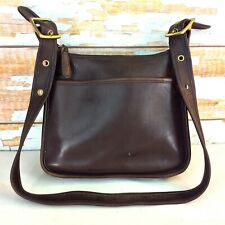 Vintage Coach Legacy Handbag 9966 Dark Brown Leather Shoulder Strap Zipper USA