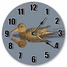 "10.5"" NORTHERN SHOVELER BIRD CLOCK Large 10.5"" Wall Clock Home Décor - 3003"