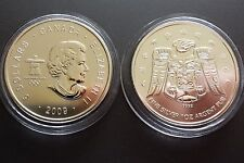 Canada 5 dollari Maple Leaf Vancouver 2009 TOTEM 1 Onza ARGENTO 1 Oncia FINE SILVER