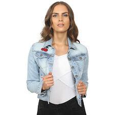 Button Casual Denim Plus Size Coats & Jackets for Women