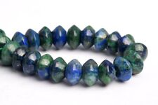 """10x6MM Natural Azurite Grade AAA Rondelle Gemstone Loose Beads 7.5"""""""