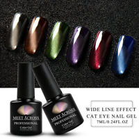 MEET ACROSS 7ml Widen Magnetic Cat Eye UV Gel Nail Polish Soak Off Varnish Tips