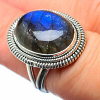 Labradorite 925 Sterling Silver Ring Size 6.5 Ana Co Jewelry R28577F