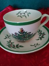SPODE/ENGLAND CUP & SAUCER/CHRISTMAS TREE PATTERN