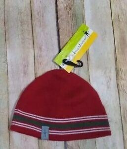 New Smartwool Straightline Merino Wool Hat Beanie Mens Red Ski Run Jersey