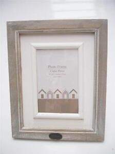 """Two Tone Brown Wooden Free Stand Vertical Horizontal Photo Frame 4""""x6"""" Or 5""""x7"""""""
