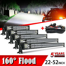 22/32/42/52 LED Work Light Bar Combo Spot Flood Driving Offroad For Jeep SUV 4WD