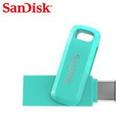SanDisk 128GB Ultra Dual Drive Go USB Type-C OTG On-The-Go USB 3.1 Tiffany Blue