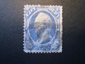 1873 US S# O43, 24c ultra, Navy hard paper Official Stamp  Used