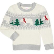 Holiday Time Baby Boy's size 12 Mos Polar Bear Sweater Christmas ~ New with Tags