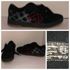 AIRWALK Skate Shoes Leather Black Red Logo 11.5 USA Thick Tongue Skateboarding