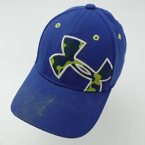 Under Armour Blue Youth Ball Cap Hat Fitted S/M Baseball