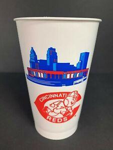 Vintage Plastic Cup CINCINNATI REDS Riverfront Skyline