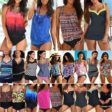 Women Plus Size Swimwear Push-up Floral Tankini Bikini Set Bathing Suit Swimsuit