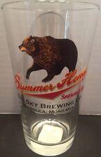 "Summer Honey Seasonal Ale Big Sky Brewing Co. 6"" Glass Cup Mug Montana"