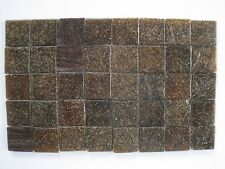 """Loose 3/4"""" (2 cms) square Glass Mosaic Tiles - 40 pieces - """"Bark Brown"""""""