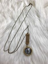 New Anthropologie Ornamental Things Small Compass Necklace Gold Long Strand