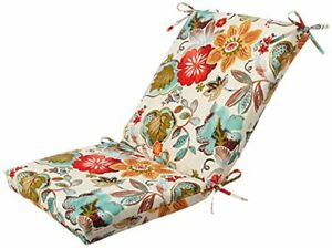 Pillow Perfect Outdoor/Indoor Alatriste Ivory Square Corner Chair Cushion 1 C...