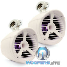 "MEMPHIS MXA82TWS 8"" WHITE 150W RMS MARINE BOAT WAKEBOARD LED TOWER SPEAKERS NEW"
