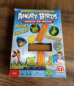 RARE 100% Complete Angry Birds Knock On Wood Mattel Game 2010 2011 2012 2009