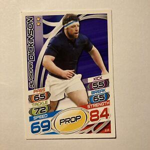 Topps Rugby Attax Card 2015 #111 Alasdair Dickinson Scotland Prop