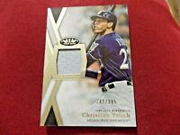 🔥2020 TOPPS TIER ONE GAME USED RELIC 182/395 CHRISTIAN YELICH #TIR-CY *BREWERS*