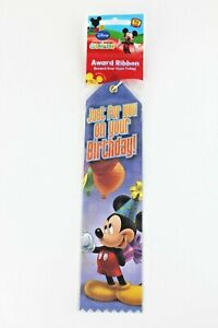 """Disney Mickey Mouse Clubhouse """"Just For You On Your Birthday"""" Award Ribbon Favor"""