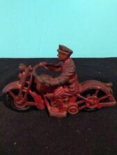 "VINTAGE CAST IRON 1928-30 HUBLEY  ""PATROL MOTORCYCLE"""