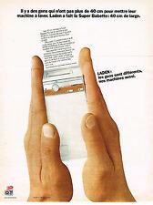 PUBLICITE ADVERTISING 064  1973   LADEN  lave linge SUPER BABETTE