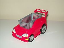 Barbie Happy Family Neighborhood Toddler Red Car Store Shopping Cart Buggy