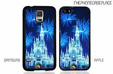 Disney Castle Blue Sparkle Fireworks Phone Case Apple iPhone & Samsung Galaxy