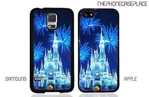 Disney Castle Blue Sparkle Fireworks Phone Case Apple iPhone & Samsung Galaxy