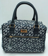 TOMMY HILFIGER Woman's Handbag *Navy Blue/White/Gold *Satchel Tote Purse New $79