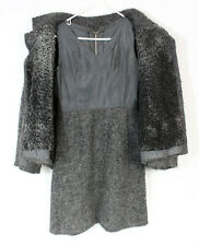 RARE VIntage Stop Senes ROME Gray Curled Wool Womens Dress Swing Jacket Outfit