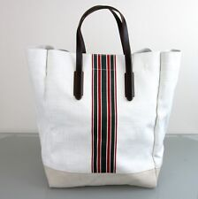 New Authentic GUCCI Canvas Mens Large Tall Tote Top Handle Bag w/Web, 308836