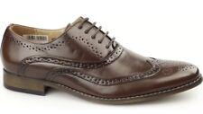 Goor Men's Tommy 5 Eyelet Lace Up Brown Formal Smart Leather Shoes Uk 6