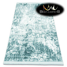 "Amazing very thick ACRYLIC Rugs ""NUANS"" Concrete 282/1524 turquoise best quality"
