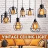 E27 Vintage Industrielampe Pendelleuchte Deckenlampe Käfig Draht Lampenschirm