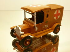 MATCHBOX FORD MODEL T - US AMBULANCE - LIGHT BROWN - VERY GOOD CONDITION