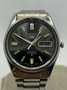 Vintage 70s Seiko 5 Automatic Mens Watch 6119-8080 62MAS-Style Dial - Running