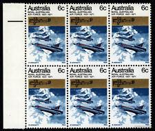 1971 RAAF 2x Plate Flaws MUH Block of 6 SG489 Mint ANZAC Australia Stamps