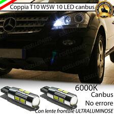 COPPIA LUCI POSIZIONE 10 LED MERCEDES ML W164 T10 W5W CANBUS NO ERROR
