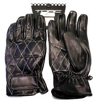 TORC Silver Lake Retro Armor Reinforced Soft Leather Motorcycle Gloves