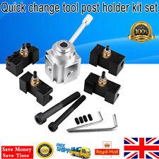 Universal Quick Change Tool Post Holder Kit Set for 7 x10, 12, 14 Lathe Tool Set