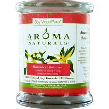 Romance Aromatherapy One 3X3.5 Inch Medium Glass Pillar Soy Aromatherapy Candle.