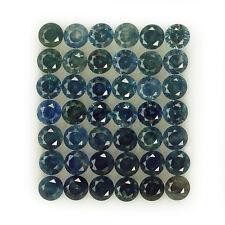 1.85CT RAVISHING 42PCS 2.0MM DIAMOND CUT GREEN BLUE HEATED ONLY SAPPHIRE