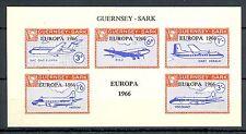 LOCAL SARK 1 IMPERF BLOCK PLANES   **   MNH VF OVERPRINT - EUROPA 1966 -