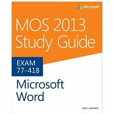 MOS 2013 Study Guide for Microsoft Word (Paperback or Softback)